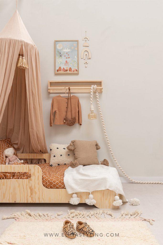 Meisjeskamer styling aardetinten