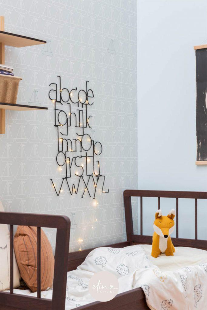 ABC lamp led lichtjes kinderkamer