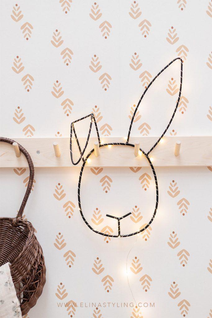 Lampje konijn kinderkamer babykamer