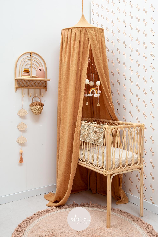 Babykamer meisje naturel roze caramel